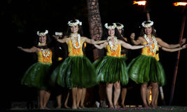 Old Lahaina  Luau - Hawaii dancer Stock Photos