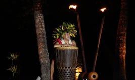 Old Lahaina Luau - Hawaiian man royalty free stock photos