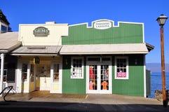 Old Lahaina storefronts, Maui Royalty Free Stock Images