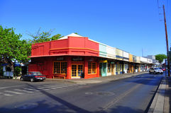 Old Lahaina storefronts, Maui Stock Photography
