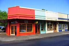 Old Lahaina storefronts, Maui Stock Images