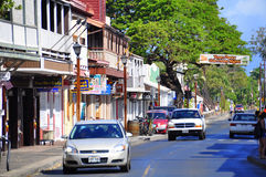Old Lahaina storefronts, Maui Stock Photo