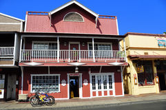 Old Lahaina storefronts, Maui stock photos