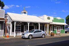 Old Lahaina storefronts, Maui stock images
