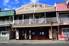 Old Lahaina storefronts, Maui Royalty Free Stock Photos