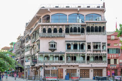 Old Lahore Historical Buildings, Food Street Lahore Pakistan. Food street is situated next to the Badshahi Mosque.Photo taken on 29 may 2015 Stock Images