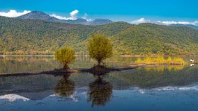 An old lake in a mountainous area Stock Image