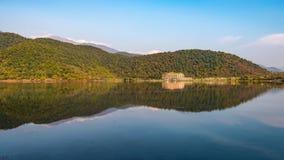 An old lake in a mountainous area Royalty Free Stock Photos