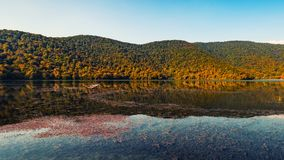 An old lake in a mountainous area Royalty Free Stock Photography