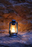 Old Lamp. To lighten a camp in Dana Royalty Free Stock Images