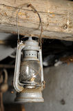 Old lamp. Old vintage gas lamp hanging Stock Images
