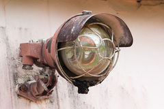 Old lamp. Old lamp attached to the wall Royalty Free Stock Images