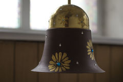 Old lamp on the ceiling. Vintage lamp hanging on the ceiling Royalty Free Stock Photography