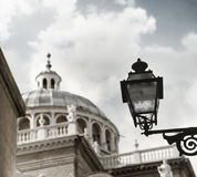 Old lamp and dome Royalty Free Stock Images