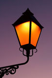Old lamp in dusk Royalty Free Stock Image