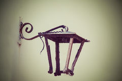Old lamp frame Royalty Free Stock Image