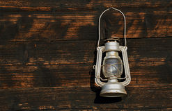Old lamp. Old gas lamp from Serbian village Stock Image