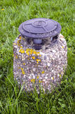 Old lamp on grass in the park Royalty Free Stock Photos