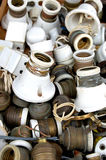 Old lamp holders. Selling old lamp holders in disarray Stock Images
