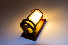 Old Lamp on Hotel Wall. Royalty Free Stock Photos