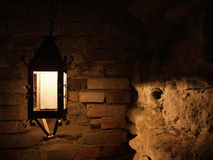 Free Old Lamp On The Brick Wall Royalty Free Stock Image - 8149076