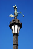 Old lamp post with mermaid Royalty Free Stock Photos