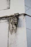 The old Lamp post off on wall Stock Photography