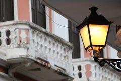 Old  lamp posts in Old San Juan, Puerto Rico Stock Photos