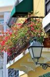 Old  lamp posts in Old San Juan, Puerto Rico Stock Photo