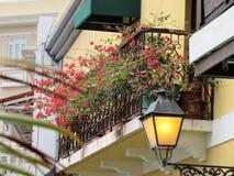 Old  lamp posts in Old San Juan, Puerto Rico Stock Image