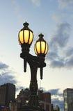 Old lamp on a Princess Bridge Stock Images