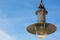 Old lamp on sky Royalty Free Stock Images