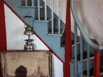 Old Lamp and Staircase Royalty Free Stock Photography