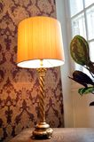 Old lamp of stay with a lampshade. Royalty Free Stock Photo
