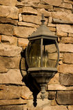 Old Lamp on Stone Wall Royalty Free Stock Image