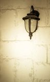 Old lamp on the wall Royalty Free Stock Image