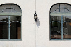Old lamp and window Stock Image