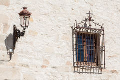 Old lamp and window Royalty Free Stock Photo