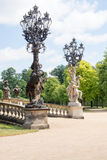 Old lamppost in Sanssouci Park Stock Photos