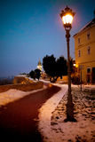 Old lamps on the Petrovaradin fortress in Novi Sad, Serbia Royalty Free Stock Photography