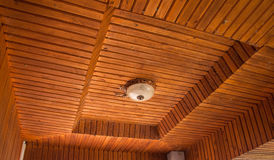 Old Lamps on the wooden ceiling Stock Photo