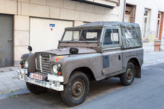 Old Land Rover Stock Photo