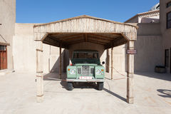 Old Land Rover at the Museum of Ajman Stock Photography