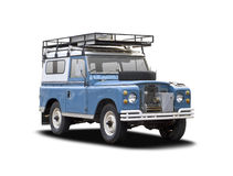 Old Land Rover  on white Royalty Free Stock Photography