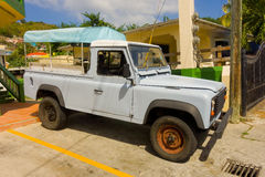 An old landrover in the tropics Royalty Free Stock Image