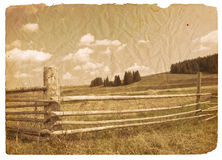 Old landscape Royalty Free Stock Image