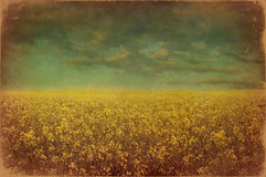 Old landscape postcard Royalty Free Stock Image