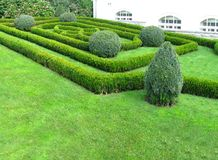 Old landscaped garden bed in Prague. Symmetrical decoration landscaped garden bed in Prague royalty free stock photos