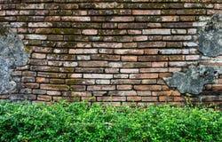 Old Lanna temple wall Stock Photos