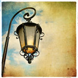 Old lantern. Picture in retro style Royalty Free Stock Photos
